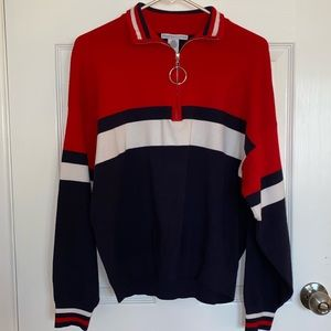 Urban outfitters crewneck (Red multicolored)